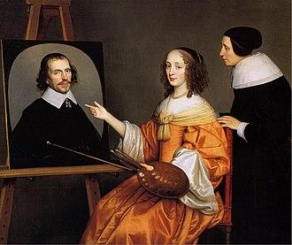 1652 in art - Image: Gerard van Honthorst Margareta Maria de Roodere and Her Parents WGA11679