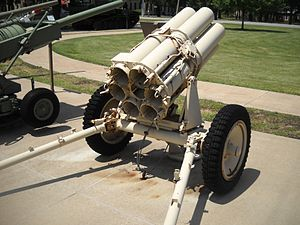 15 cm Nebelwerfer 41 - Nebelwerfer 41 rocket launcher, breech view