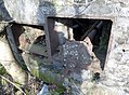Giffen Mill, ruins at the south side. Barrmill, North Ayrshire, Scotland. Auxillary drive shaft details.jpg