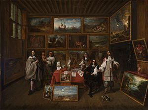 Art dealer - A Picture Gallery by Gillis van Tilborch, 1660s