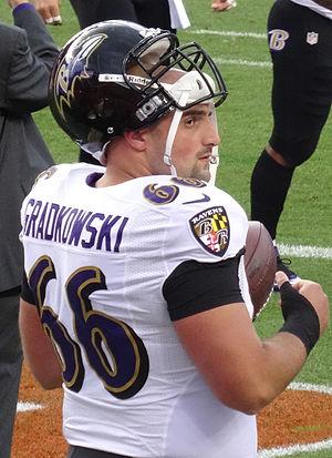 Gino Gradkowski - Gradkowski with the Ravens in 2013