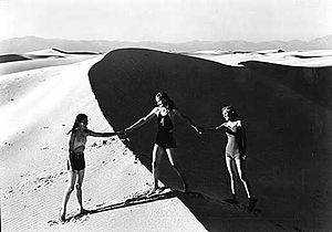 White Sands, New Mexico - Girls at White Sands, 1936