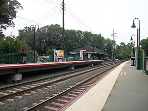 Glen Cove (LIRR station) - June 10, 2010 view of Glen Cove station from the same angle as the 1907 post card below.