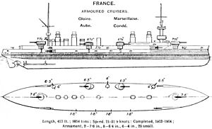 Gloire class cruiser diagrams Brasseys 1912.jpg