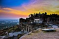 Golconda Fort and the Sunset, Hyderabad.jpg