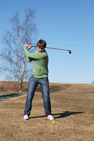 Golfer in Yyteri Golf Links.