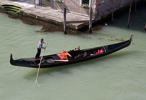 Gondola in a canal