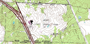 Thomas Goree Unit - Topographical map of the Goree Unit, July 1, 1976, U.S. Geological Survey