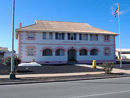 Gebaaw van n Ascension Island Council in Georgetown, Ascension.