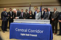 Governor Mark Dayton at a signing ceremony for the Central Corridor Light Rail 1.jpg