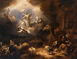 Govert Flinck: Angels Announcing Christ's Birth to the Shepherds