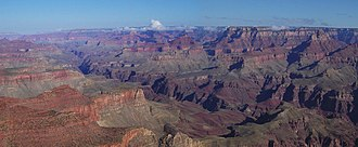 Geography of the United States - The Grand Canyon from Moran Point. The Grand Canyon is among the most famous locations in the country.