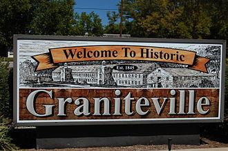 Graniteville, South Carolina - Graniteville welcome sign