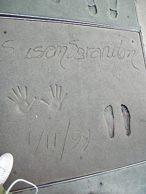 Susan Sarandon - Sarandon's hand and footprints at Grauman's Chinese Theatre