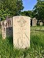 Gravestone of Flying Officer (Pilot) Vivian Howard Ayres of the Royal Air Force at Cathays Cemetery, May 2020.jpg