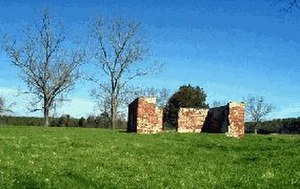 Green Spring Plantation - Remains of ancillary jail structure at Green Spring Plantation site