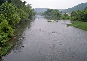 Greenbrier River - The Greenbrier River in Marlinton