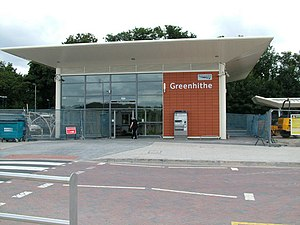Greenhithe railway station -  The new Greenhithe Station is nearing completion