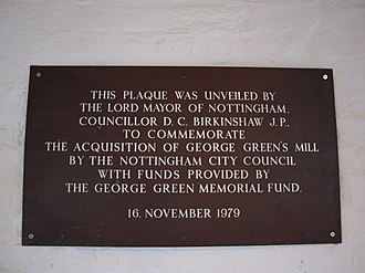 Green's Mill, Sneinton - Image: Greens Mill 1