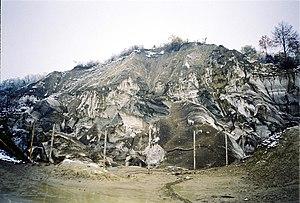 Slănic - The collapsed Bride's Cave (Grota Miresei)