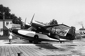 Grumman G-44 Widgeon - Grumman Widgeon at Garland's Seaplane Base on the Detroit River in 1947