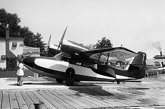 Grumman G-44 Widgeon - Grumman Widgeon at Garland's Seaplane Base on the Detroit River in 1947
