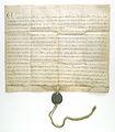 Grzegorz IX papiez laczy zakon kawalerow mieczowych z zakonem krzyzackim w Liwonii.jpg