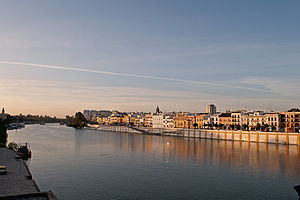 Triana, Seville - Betis street from the Guadalquivir river