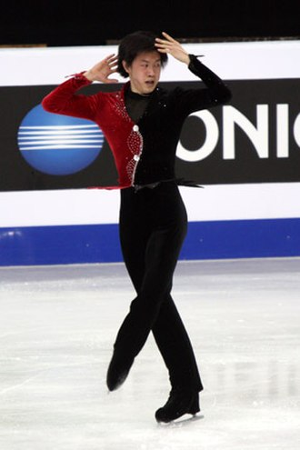 Upright spin - Image: Guan Jinlin Spin 2008 Junior Worlds