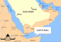 The incident took place in the Gulf of Aden Image: NOAA.