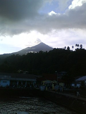 Karangetang - Mount Karangetang from Ulu Siau Harbour