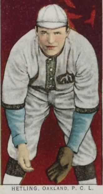 Gus Hetling - A baseball card featruing Hetling