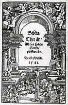 Gustav Vasa Bible 1541