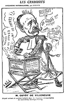 Desenho monocromático representando um homem, com roupas eclesiásticas, operando uma caixa de música gerando imprecações sobre as cartas.