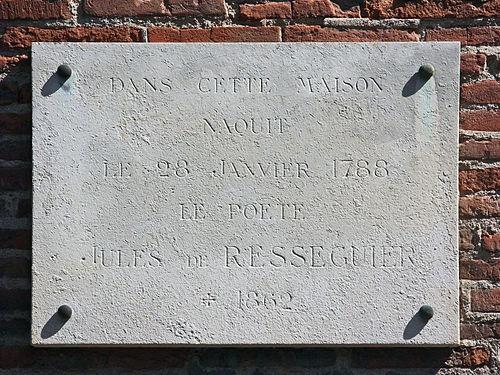 Hôtel d'Ulmo Toulouse - Plaque Resseguier
