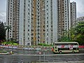 HK 上水 Sheung Shui 彩園邨 Choi Yuen Estate facade 彩園路 Choi Yuen Road Feb-2014 view from MTR Station rainy day.JPG