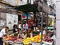 HK Central Wellington Street Graham Street fruit stall market Nov-2012.JPG