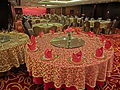 HK Jordan Nathan Road 香港逸東酒店 Eaton Hotel Hong Kong Banquet ballroom tables Jan-2014.JPG