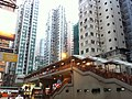 HK North Point Marble Road view Tong Shui Road King's Road footbridge Dec-2012.JPG