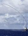 HMAS Ballarat (FFH 155) fires RIM-162 missiles in July 2016.JPG