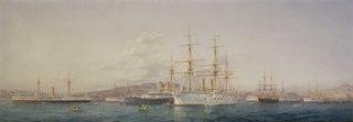 HMS 'Alexandra' at Malta
