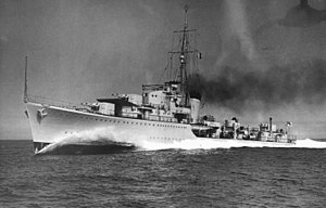 HMS Kelly (F01) - Image: HMS Kelly (1939) on full power trial