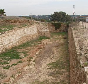 Apollonia-Arsuf - The dry moat of the castle