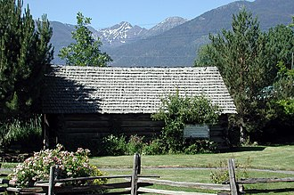 Haines, Oregon - Restored 19th-century cabin in Haines city park