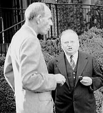 Edward Wood, 1st Earl of Halifax - Halifax and Soviet ambassador Maxim Litvinov at a garden party in Washington, D.C. in 1942