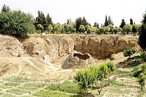 Hama Castle - Excavation area inside Hama Citadel