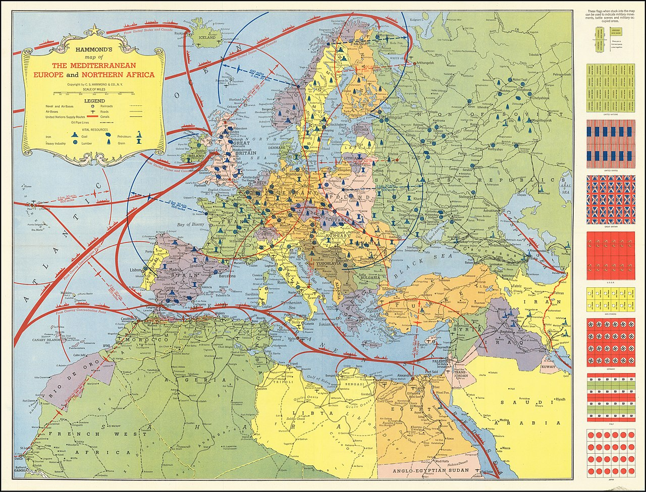 Picture of: File Hammond S Map Of The Mediterranean Europe And Northern Africa Jpg Wikimedia Commons