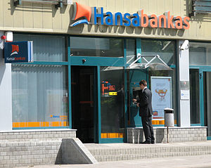 Hansabank - A Hansabankas office in Vilnius, Lithuania.