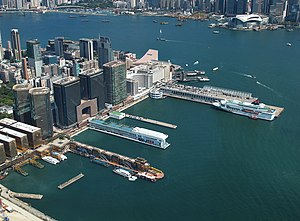 Tsim Sha Tsui - The southern tip of Tsim Sha Tsui, with the Hong Kong China Ferry Terminal and Harbour City.