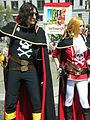 Harlock & Emeraldas cosplayers at 2010 NCCBF 2010-04-18 2.JPG